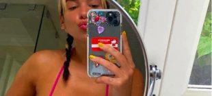Dua Lipa'nın Instagram'dan Arka Arkaya Paylaştığı Bikinili Pozlar